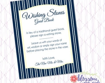 Navy & Yellow Cape Cod Inspired - Printable Guest Book Sign