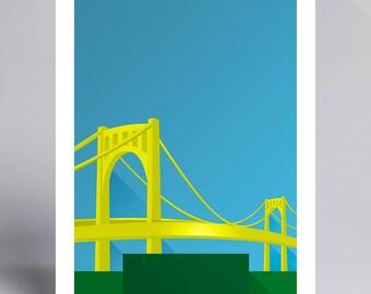 Minimalist PNC Park - Ballpark Art Print - Pirates