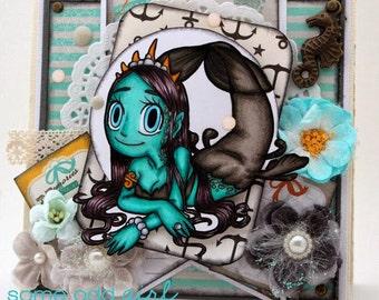 Mermaid queen card