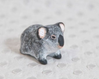 SALE!!!  Relaxed koala totem. Animal totem - Polymer clay animal OOAK figurine, talisman, amulet