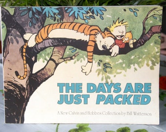 Gorgeous Classic CALVIN AND HOBBES Collection :The Days are Just Packed