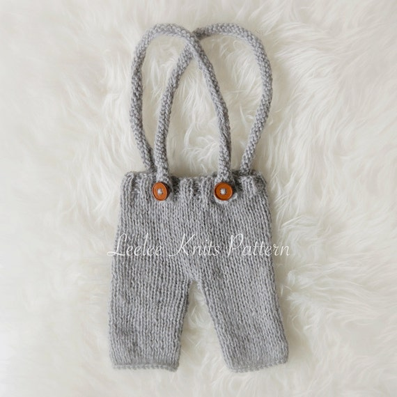 Pattern - Newborn Pants With Suspenders Knitting Pattern - Knit Newborn Pants Pattern