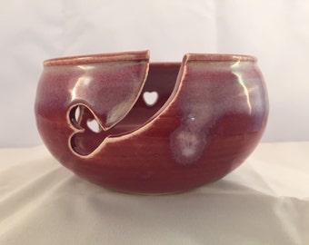 Heart knitting bowl
