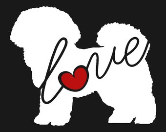 bichon frise love window vinyl car sticker decal for dog lovers ships free - Frise Vinyle