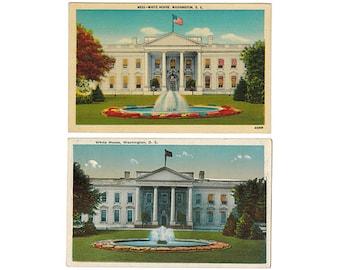 Washington DC vintage postcard | White House, North Entrance | District of Columbia travel souvenir, American decor | CHOOSE FROM 2