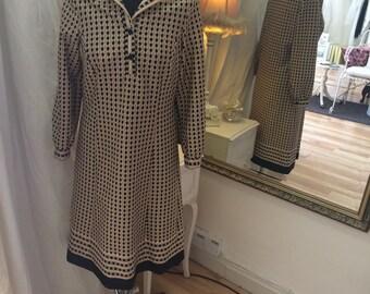 Vintage Print Day Dress Approx UK Size 12