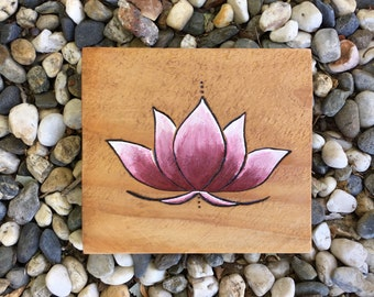 Maroon Lotus Wall Hanging