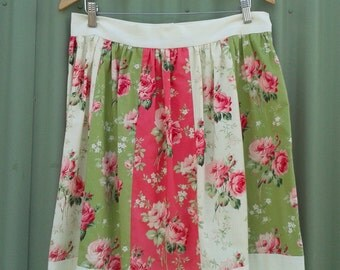 Patchwork Floral Skirt