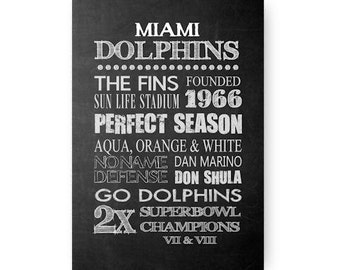 Miami Dolphins Chalkboard Digital Download