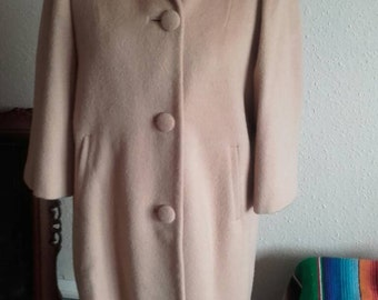 Vintage 50's Classic Camel Coat Medium