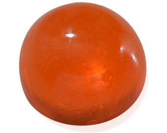 Ethiopian Welo Orange Opal Loose Gemstone Round Cabochon 6mm TGW 0.40 cts.