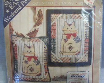 "Dimensions ""Calico Kitten"" Counted Cross Stitch Kit"