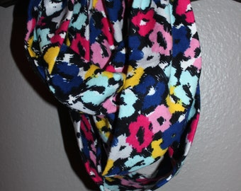 Floral Flannel Infinity Scarf