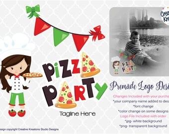 Premade Pizza Party Logo Pizza  Design Boutique Logo Watermark Logo Photography Logo Bowtique Logo Branding Logo Graphic Design