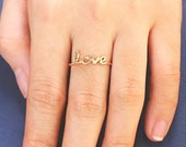 SALE 22% OFF - Initial Names Ring - Personalized Jewelry - Custom Ring - Gift For The Home  - Wedding Gift