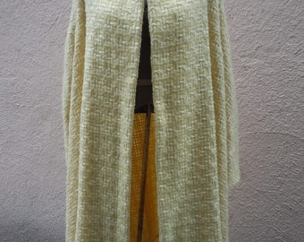 """Attractive Yellow Wool 1950s-60s Jacket -- Bust:  up to 60"""""""