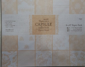 Docrafts Papermania Oyster Blush Paper Pack