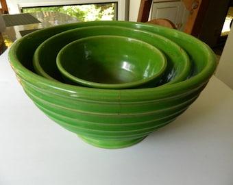 Deco era- 1920-1930 Mixing bowls