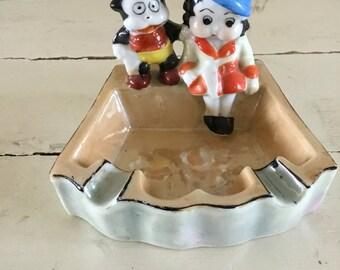 SALE!!! Betty Boop and Bimbo Lustreware Ashtray