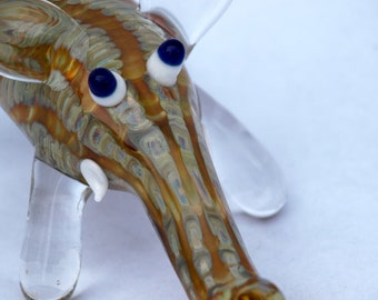 Amber Purple Elephant Pipe