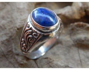 Silver ring Lapis Lazuli Stone