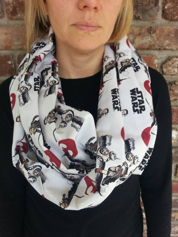 BB-8 and rey star wars the force awakens scarf