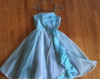 Vintage Blue Party Dress