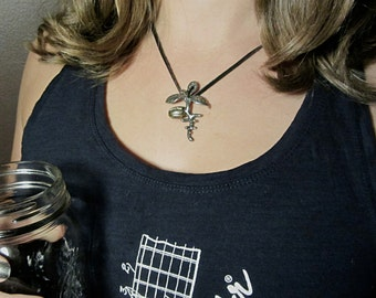 Olive Tree Necklace - Seedling Pendant. Botany Jewelry, Biology Jewelry, Horticulture Tree Jewelry