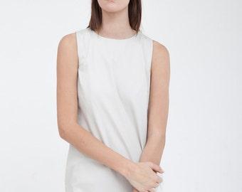 Sleeveless gray summer  dress