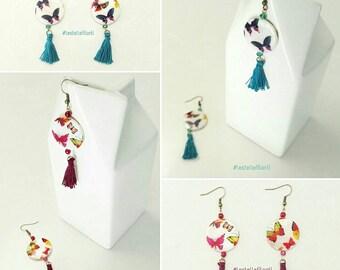Boho earrings beads and tassels