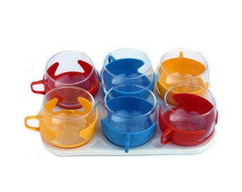 Set of 6 tea cups