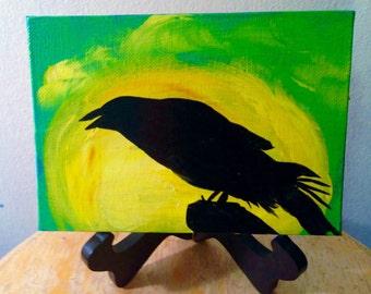 Alaska Raven Sunset