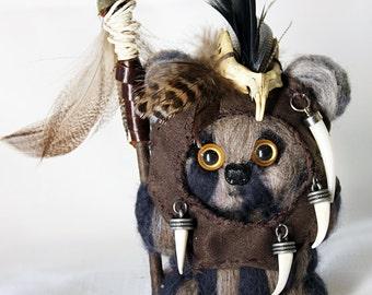 Handmade Needle-Felted Wool Ewok *Teebo*