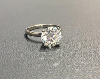 Bridal Engagement Ring White Yellow Or Rose Gold Eye Clean Real Eye Clean Diamond