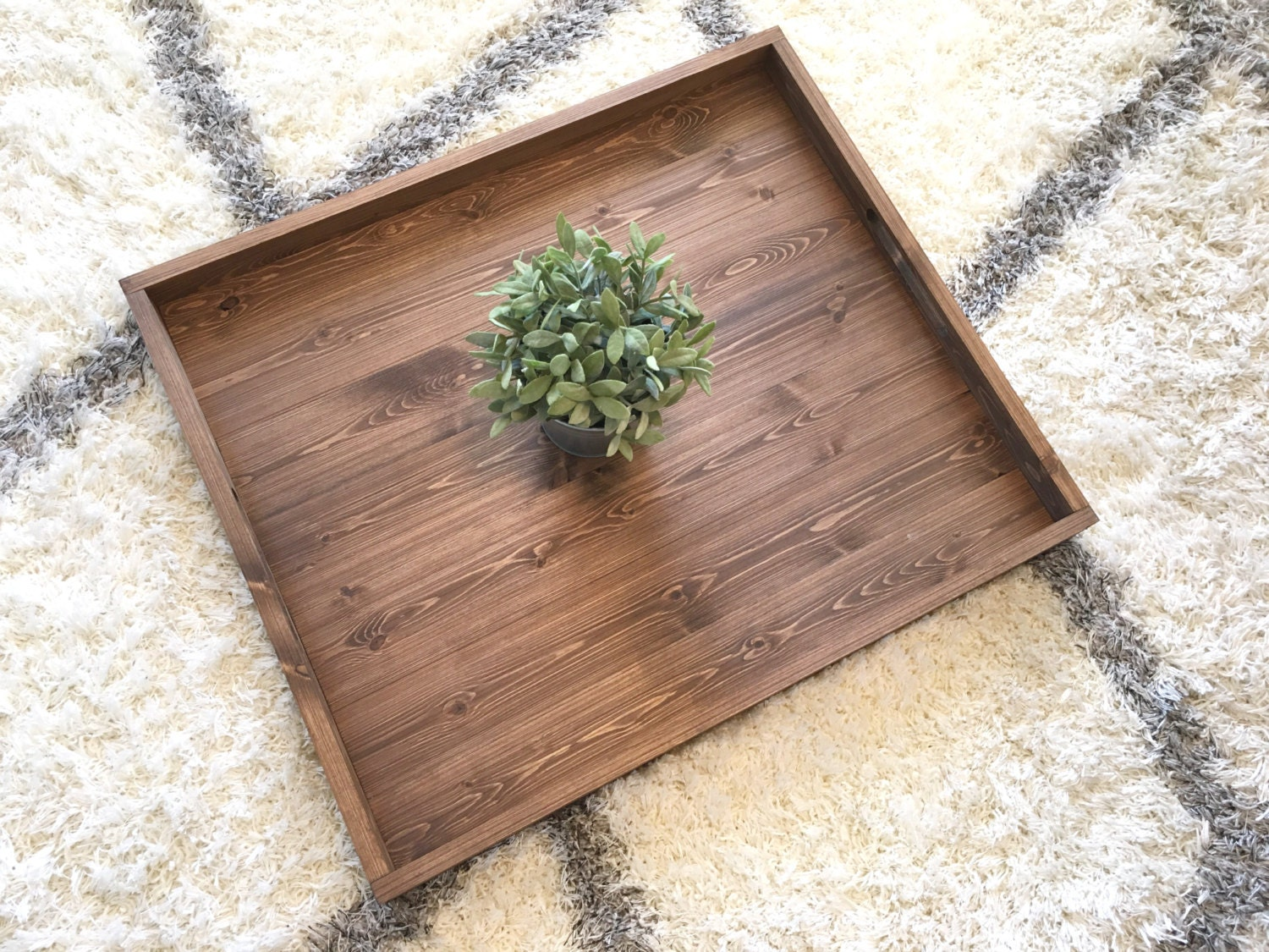Rustic Wooden Ottoman Tray Ottoman Tray Wooden Tray Rustic