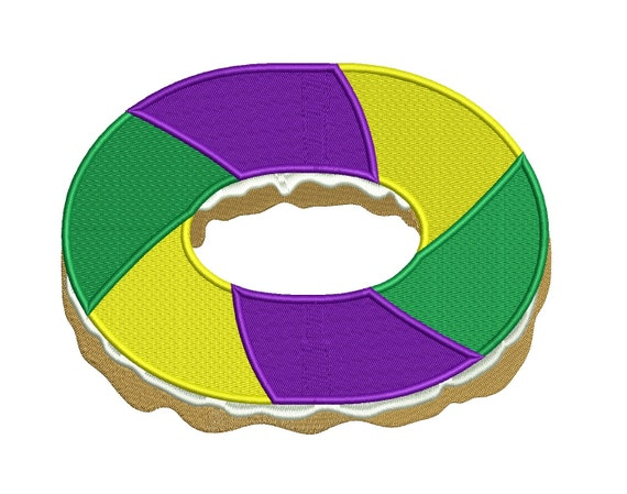 King Cake Embroidery Design