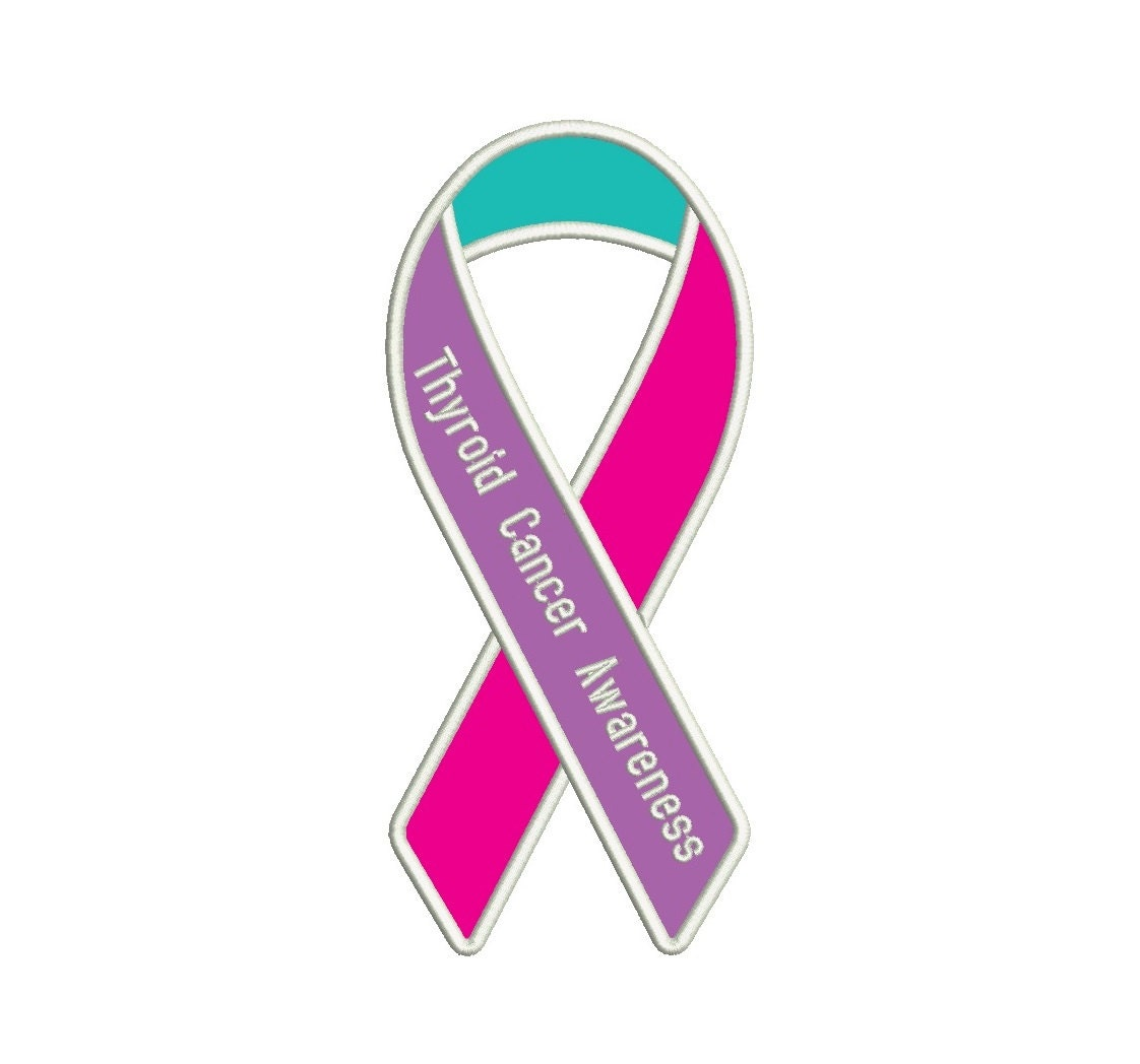 Thyroid Cancer Awareness Ribbon Machine Embroidery ...