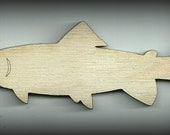 Craft, Trout, Fish, Nautical Outlines, Marine Cutouts, Baby Mobile Wood, Unfinished, DIY, You Decorate, Scrap Book Items, Decorations