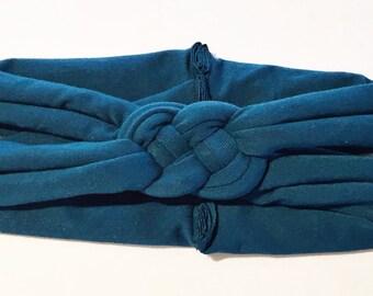 ADULT Deep Jade sailors knot headband