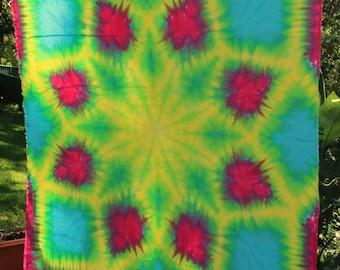 150cmx150cm Tie Dye Flower Tapestry