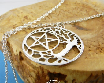 FREE SHIPPING  Tree of wisdom Tree of life necklace (Stainless steel jewelry)