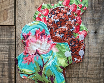 "Momma Cloth | Set of Three 9"" Reusable Menstrual Pad"