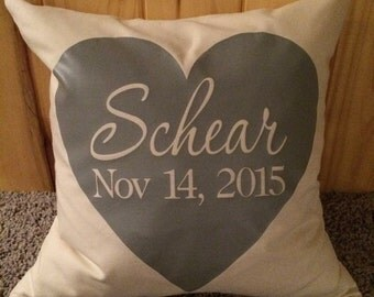 Last Name Feather Pillow