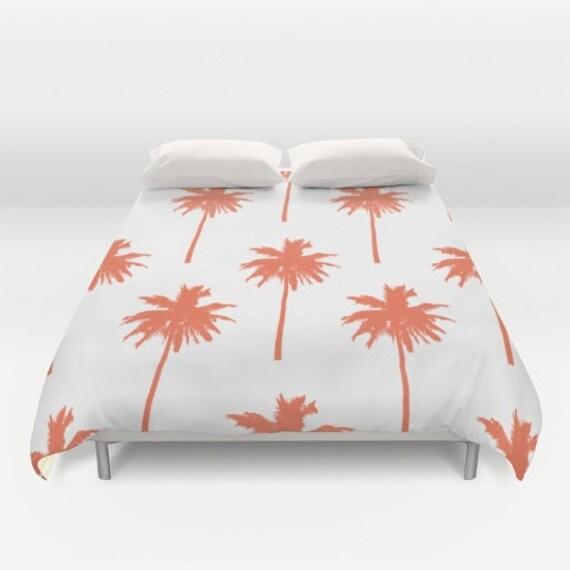 Palm Tree Duvet Cover Nautical Bedding Queen Size Duvet