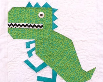 T-Rex Paper Pieced Blocks