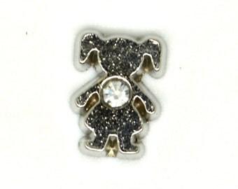 Figurines filles - Avec pierre blanche - Symbole enfant - À mettre à l'intérieur du porte-clés ou du collier familial