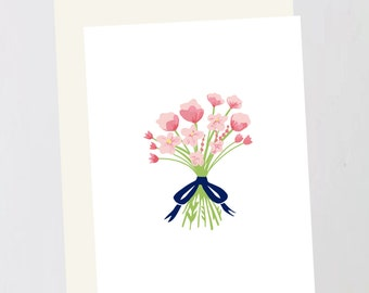 Blush wedding Greeting Card