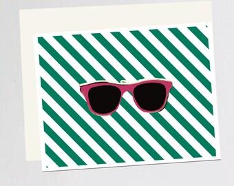 Sunglasses print Greeting Card