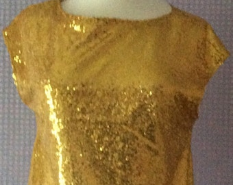 Gold sequin vintage tops