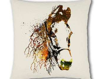 Nature Horse Design Cushion Cover